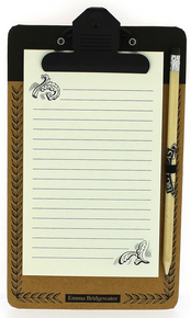 Emma Bridgewater Black Scroll Magnetic Notepad & Pencil